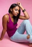 черная девушка Стоковые Изображения RF