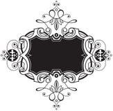 черная декоративная рамка Стоковое Изображение