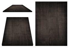 Черная деревянная доска, таблица, поверхность пола, деревянная текстура Предметы изолированы на белой предпосылке Стоковые Фото