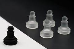 Черная диаграмма против белых диаграмм против все одного почерните против белизны стоковые изображения
