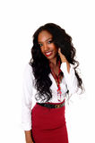 черная девушка довольно Стоковые Фото