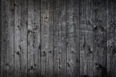 Черная деревянная предпосылка Grunge Стоковые Изображения