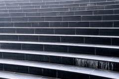 Черная лестница гранита Стоковая Фотография RF