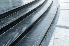 Черная лестница гранита Стоковые Изображения RF