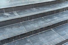 Черная лестница гранита Стоковое Изображение RF