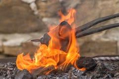 черная деятельность детали крупного плана blacksmith Стоковое Изображение