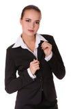черная женщина костюма дела Стоковая Фотография