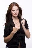 черная женщина куртки Стоковые Изображения RF