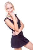 черная женщина платья стоковые фотографии rf