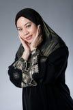 черная женщина muslim malay hijab стоковая фотография rf