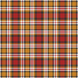 Черная, желтая, красная и белая предпосылка шотландки Стоковые Фото