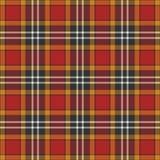Черная, желтая, красная и белая предпосылка шотландки Стоковые Изображения