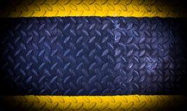 Черная желтая металлическая предпосылка Стоковое фото RF