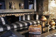 черная живущая комната Стоковая Фотография RF