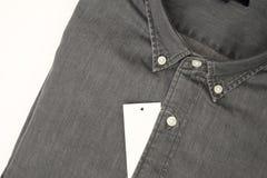черная джинсовая ткань Стоковое Изображение