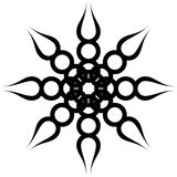 черная закрутка орнамента Стоковые Фото