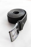 Черная замотка кожаного пояса стоковое фото rf