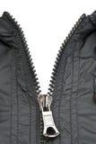 черная застежка-молния куртки Стоковое Изображение RF