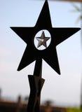 черная звезда силуэтов Стоковое Фото