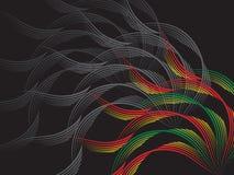 черная зеленая красная волна Стоковые Изображения RF