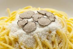 черная зима трюфеля спагетти Стоковые Изображения