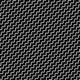 Черная диагональ выравнивает безшовную картину Волнистый, зигзаг передернул li иллюстрация штока
