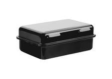 Черная изолированная коробка металла Стоковые Изображения