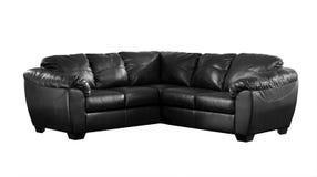 Черная изолированная софа Стоковая Фотография RF