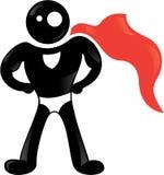 черная икона героя супер Стоковые Изображения RF