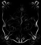 черная иллюстрация богато украшенный Стоковое Фото