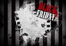 Черная иллюстрация grunge пятницы для вашего desigh Стоковые Изображения