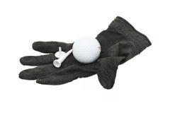 черная используемая часть гольфа перчатки несенной Стоковые Изображения