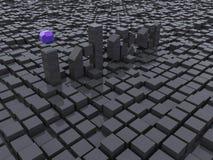 Черная идея кубов Стоковое Изображение RF