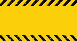 Черная и желтая лента предосторежения Пустая предупреждающая предпосылка r бесплатная иллюстрация