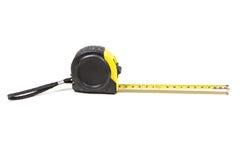 Черная и желтая измеряя лента Стоковое Изображение RF