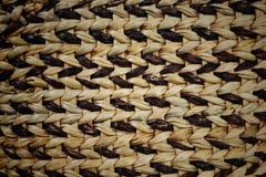 Черная и коричневая сплетенная текстура корзины Стоковое фото RF