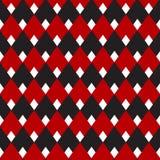Черная и красная холстинка, картина диаманта безшовная, винтажная картина для предпосылки, ткани, обоев, печатания ткани бесплатная иллюстрация