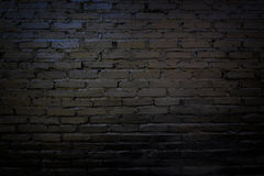Черная и старая кирпичная стена для предпосылки Стоковое Изображение