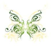 черная иллюстрация бабочки изолировала белизну вектора tattoo предметов Стоковое Фото