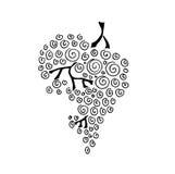 Черная иллюстрация виноградины Стоковые Фото