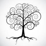 Черная иллюстрация дерева Стоковые Изображения