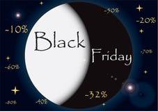 Черная иллюстрация пятницы Стоковое Изображение