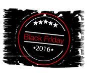 Черная иллюстрация стиля grunge продажи пятницы Стоковая Фотография