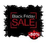 Черная иллюстрация стиля grunge продажи пятницы Стоковое Фото