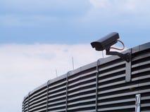 Черная камера слежения безопасностью стоковое фото
