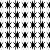 Черная картина звезды безшовная Стоковое фото RF
