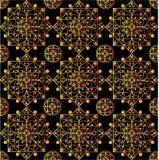 Черная картина мандал Стоковая Фотография RF