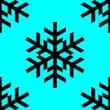 Черная картина символа снежинок на голубой предпосылке иллюстрация штока