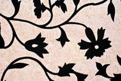 черная картина цветка конструкции Стоковое Изображение
