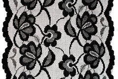черная картина шнурка Стоковые Изображения RF